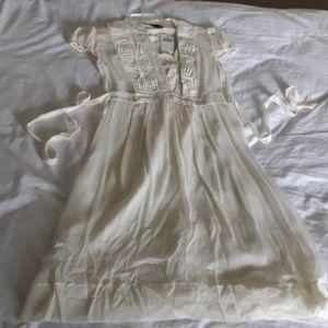 BCBG Maxazria 2 Cream Voile Dress